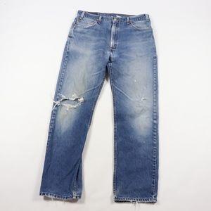 90s Levis Mens 36x32 Regular Fit Distressed Jeans